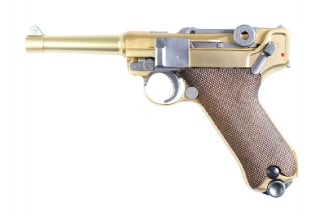 WE GBB Luger P08 4 Inch (Gold)