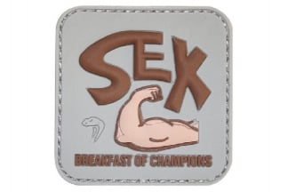 "Viper Velcro PVC Morale Patch ""Breakfast Of Champions"""