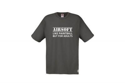 Daft Donkey T-Shirt 'For Adults' (Grey) - Size Extra Large