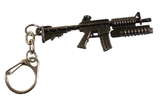 "Zero One Key Chain ""M16 with M203"""