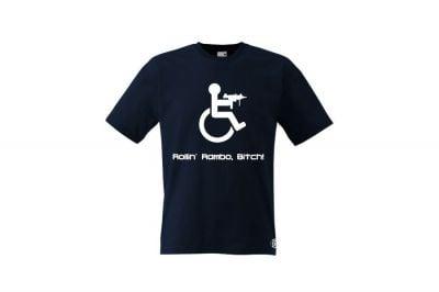 Daft Donkey T-Shirt 'Rollin' Rambo' (Dark Navy) - Size Extra Large