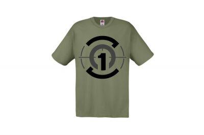 Daft Donkey T-Shirt 'Zero One Logo' (Olive) - Size Large