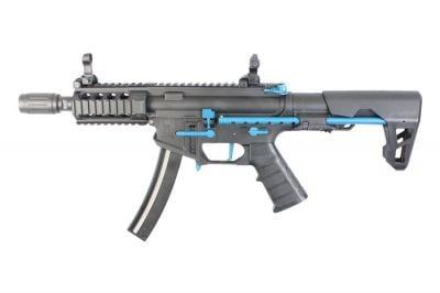 King Arms AEG PDW 9mm SBR Shorty (Black & Blue) - Limited Edition