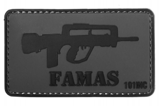 "101 Inc PVC Velcro Patch ""FA-MAS"""