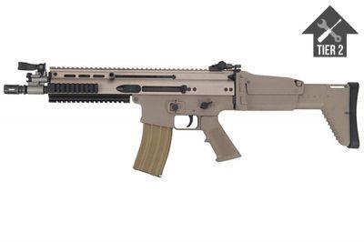 WE GBB SCAR-L (Tan) with Tier 2 Upgrades (Bundle)