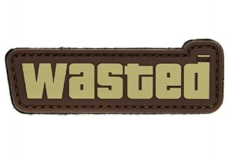 "101 Inc PVC Velcro Patch ""Wasted"" (Brown)"