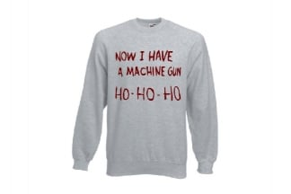 Daft Donkey Christmas Jumper 'Ho Ho Ho' (Light Grey)