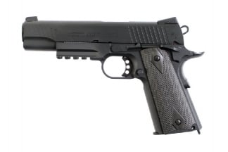 KWC/Cybergun CO2BB Colt M1911 Rail Gun (Matt Black)