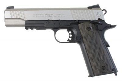 KWC/Cybergun GBB CO2 Colt 1911 Rail Gun (Black/Silver)