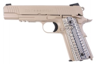 KWC/Cybergun GBB CO2 Colt 1911 Rail Gun M45A1 (Tan)