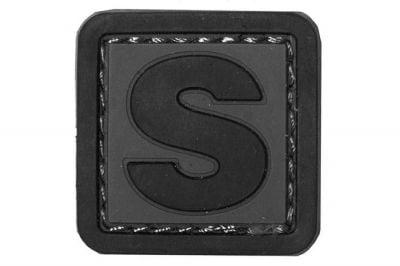 """VOS PVC Velcro Patch """"S"""""""