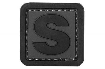 "101 Inc PVC Velcro Patch ""S"""