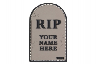 "101 Inc PVC Velcro Patch ""RIP"" (Grey)"