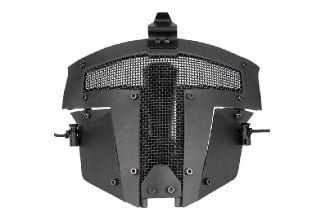 Pirate Arms Warrior Steel Face Mask for Fast Helmets (Black)