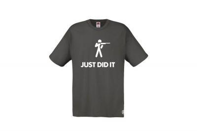 Daft Donkey T-Shirt 'Just Did It' (Grey) - Size Medium
