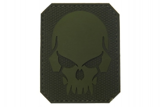 "101 Inc PVC Velcro Patch ""Pirate Skull"" (Olive)"