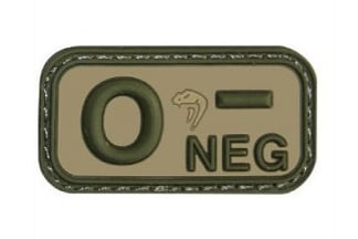 Viper Velcro PVC Blood Group Patch O- (MultiCam)