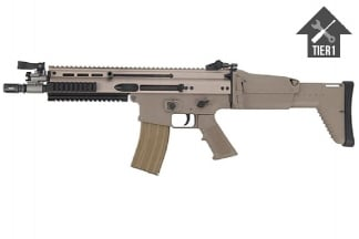 WE GBB SCAR-L (Tan) with Tier 1 Upgrades (Bundle)