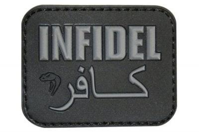 "Viper Velcro PVC Morale Patch ""Infidel"" (Black)"