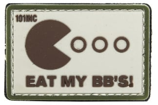 "101 Inc PVC Velcro Patch ""Eat My BB's"" (Brown)"