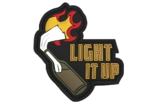 "101 Inc PVC Velcro Patch ""Light It Up"" (Black)"
