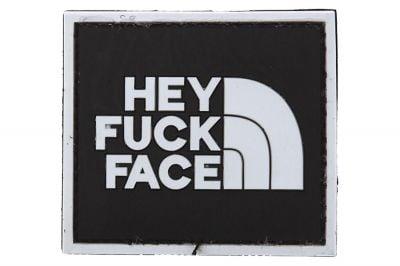 """101 Inc PVC Velcro Patch """"Hey F**k Face"""""""