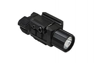 NCS Pistol Flashlight with Strobe & Red Laser