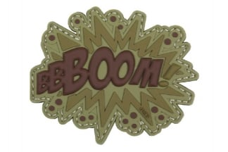"101 Inc PVC Velcro Patch ""Boom!"" (Brown)"