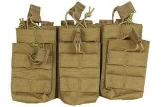 Viper MOLLE Quick Release Stacked Triple Mag Pouch (Coyote Tan)