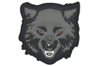 "101 Inc PVC Velcro Patch ""Wolf"" (Grey)"