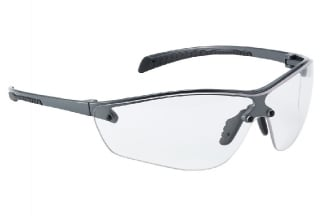 Bollé Protection Glasses Silium PLUS with Silver Frame, Clear Lens and Platinum Coating