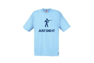 Daft Donkey T-Shirt 'Just Did It' (Blue) - Size Small