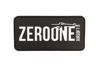 Zero One PVC Velcro Patch 'Zero One Logo' (Black)