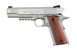 KWC/Cybergun GBB CO2 Colt M1911 Rail Gun (Stainless)