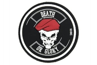"101 Inc PVC Velcro Patch ""Death or Glory"" (Black)"