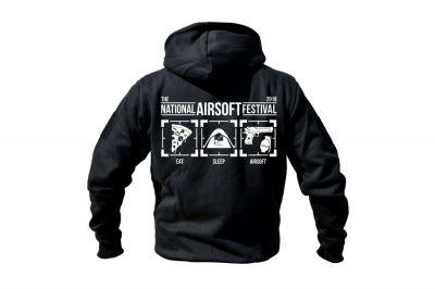 Daft Donkey Special Edition NAF 2018 'Eat, Sleep, Airsoft' Viper Zipped Hoodie (Black)