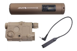 G&G Military Intelligence Tracer Unit with PEQ Battery Box & Laser Pointer (Tan)