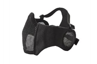 ASG Padded Mesh Mask with Ear Protection (Black)