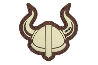 "101 Inc PVC Velcro Patch ""Viking Helmet"" (Brown)"