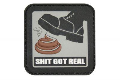 """Viper Velcro PVC Morale Patch """"Shit Got Real"""""""