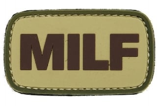 "101 Inc PVC Velcro Patch ""MILF"""