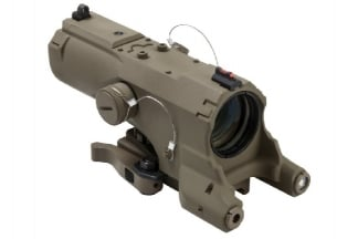 NCS 4x34 Blue Illuminating ECO Scope with Integrated Green Laser, Red/White Navigation Light & QD Mount (Tan)