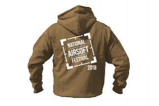 Daft Donkey Special Edition NAF 2018 'Original Logo' Viper Zipped Hoodie (Coyote Tan)