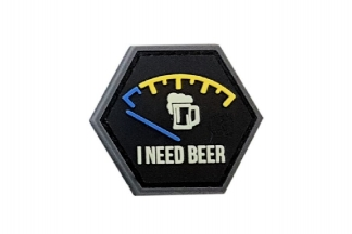 JTG I Need Beer PVC Patch (Glow)