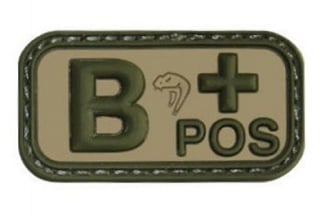 Viper Velcro PVC Blood Group Patch B+ (MultiCam)