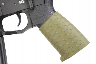 Zero One Rubber Hex Grip Sleeve for Pistols & Rifles (Olive)