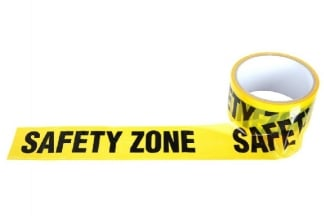 "101 Inc Barrier Tape 48mm x 30m ""Safety Zone"""