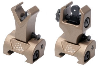 G&G 20mm RIS Flip-Up Front & Rear Sight Set (Tan)