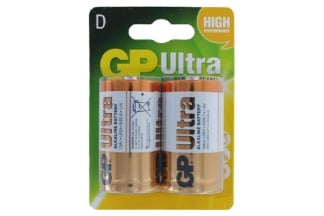 GP Ultra Alkaline Batteries D Cell (Pack Of 2)