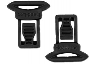 FMA Helmet Clips for Goggle & Mask Straps (Black)